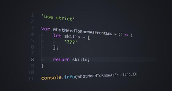 Что нужно знать и уметь front end разработчику в 2015/2016