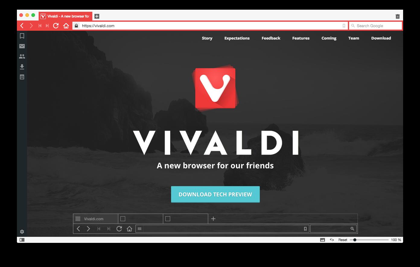 Обзор нового интернет браузера Vivaldi